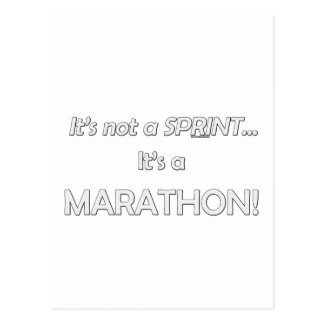 Het is geen Sprint… 3 Briefkaart