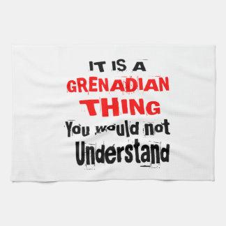 HET IS GRENADIAN DESIGN VAN HET DING THEEDOEK