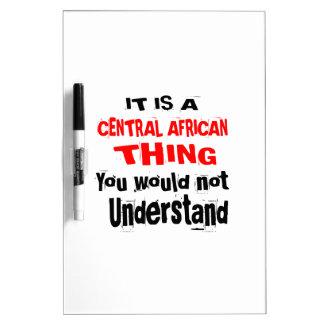 HET IS HET CENTRAALAFRIKAANSE DESIGN VAN HET DING WHITEBOARDS