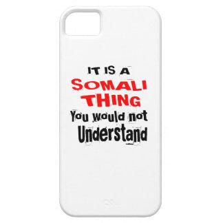 HET IS HET SOMALISCHE DESIGN VAN HET DING BARELY THERE iPhone 5 HOESJE