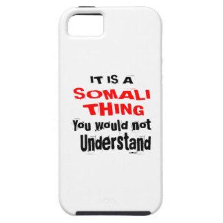 HET IS HET SOMALISCHE DESIGN VAN HET DING TOUGH iPhone 5 HOESJE