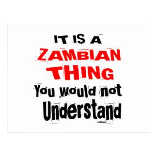 HET IS HET ZAMBIAANSE DESIGN VAN HET DING BRIEFKAART