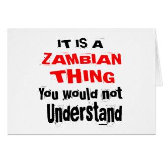 HET IS HET ZAMBIAANSE DESIGN VAN HET DING BRIEFKAARTEN 0