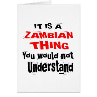 HET IS HET ZAMBIAANSE DESIGN VAN HET DING KAART