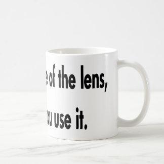 Het is hoe u de Lens gebruikt Koffiemok