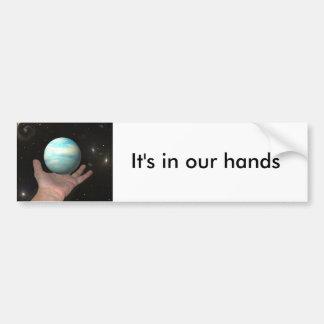 Het is in onze handen bumpersticker