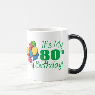 Het is Mijn 80ste Verjaardag (Ballons) Magische Mok