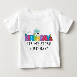 Het is Mijn Eerste het babyt-shirt van de Baby T Shirts