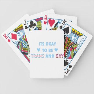 Het is O.k. om te zijn trans en Homosexueel (v3) Poker Kaarten