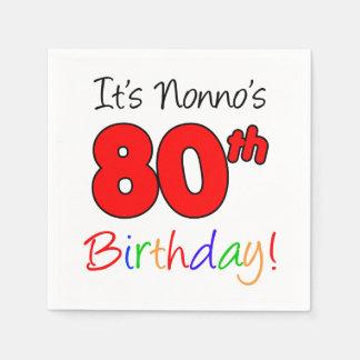 Het is Servetten van de Verjaardag van Nonno de Wegwerp Servetten