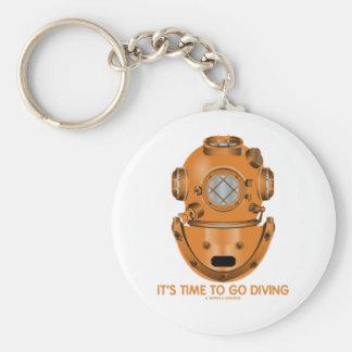 Het is Tijd gaan duikend (Diepzee het Duiken Helm) Sleutelhangers