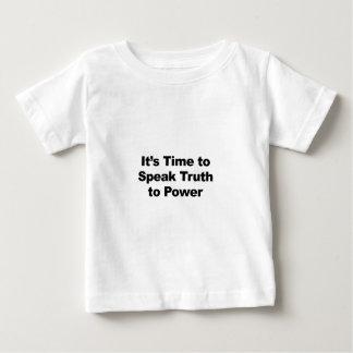 Het is Tijd om Waarheid aan Macht te spreken Baby T Shirts