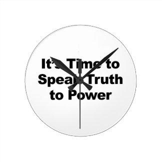 Het is Tijd om Waarheid aan Macht te spreken Ronde Klok