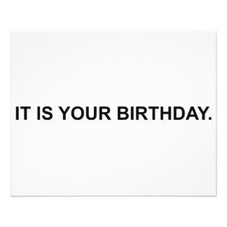 Het is Uw Verjaardag Gepersonaliseerde Folder