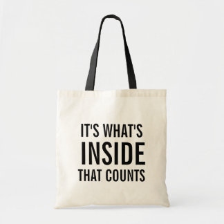 Het is wat Binnenkant is die Grappig Canvas tas