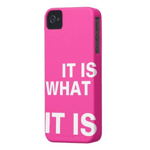Het is Wat het is Case-Mate iPhone 4 Hoesje