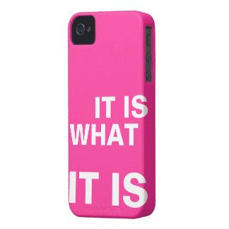 Het is Wat het is iPhone 4 Hoesje
