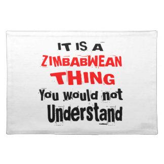 HET IS ZIMBABWEAN DESIGN VAN HET DING PLACEMAT