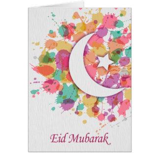 Het Islamic van Eid Wenskaart van Mubarak voor