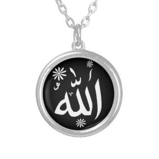 Het Islamitische zwart-witte ketting van Allah