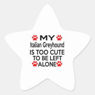 Het Italiaanse Design van de Windhond Stervormige Sticker
