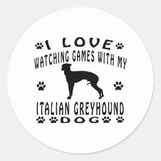 Het Italiaanse design van de Windhond Ronde Sticker