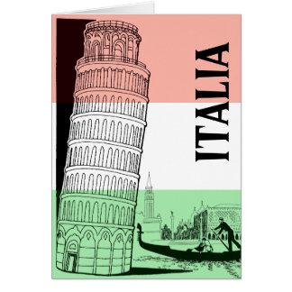 Het Italiaanse Gepersonaliseerde Wenskaart van het