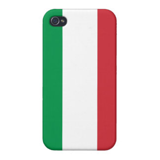 Het Italiaanse Hoesje van iPhone van de Vlag iPhone 4/4S Case