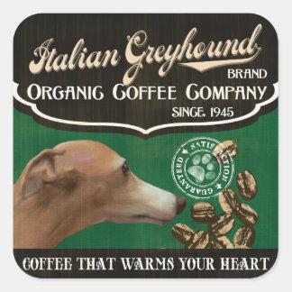 Het Italiaanse Merk van de Windhond - Organic Vierkant Stickers