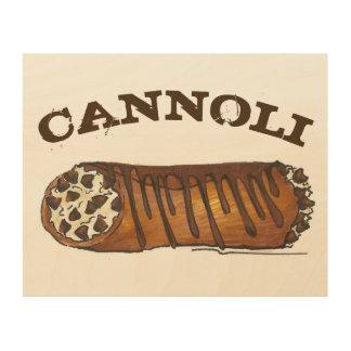 Het Italiaanse Voedsel van het Dessert van Cannoli Hout Afdruk
