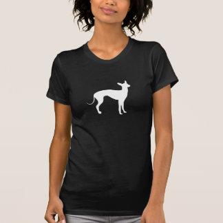 Het Italiaanse Wit van de Windhond op Zwarte T Shirt