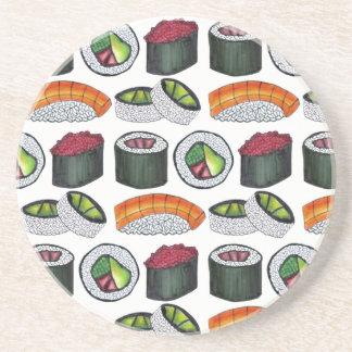 Het Japanse Broodje Nigiri van de Tonijn van Zandsteen Onderzetter