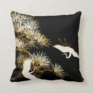 Het Japanse hoofdkussen van de Vogels van Kranen Sierkussen