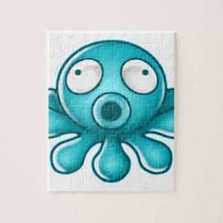 Het Japanse Logo van de blauwe Octopus Puzzel