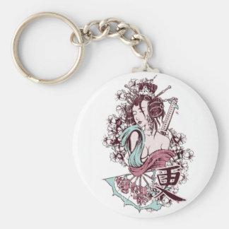 Het Japanse Meisje Keychain van de Geisha Sleutelhanger