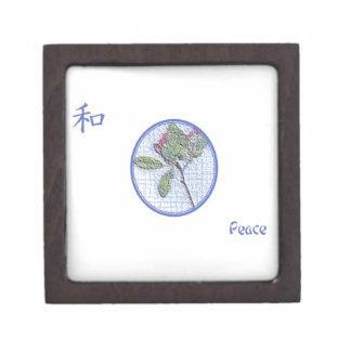 Het Japanse Symbool van de Vrede op de Doos van de Premium Decoratie Doosje