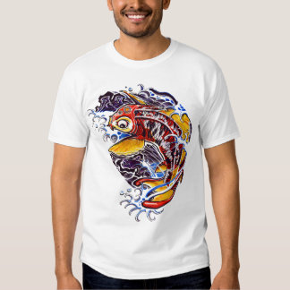 Het Japanse Tattoo van de Karper Koi Tshirts