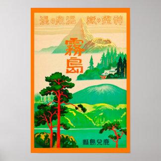 Het Japanse Vintage Poster van de Reis