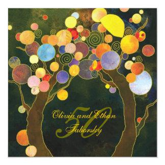 Het Jubileum van de Gouden bruiloft van de Bomen Kaart