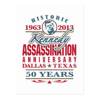 Het Jubileum van de Moord JFK Kennedy 1963 - 2013 Briefkaart