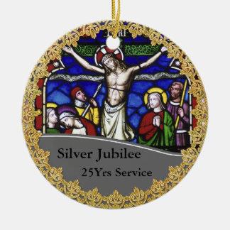 Het Jubileum van de Ordening vijfentwintigste van Rond Keramisch Ornament