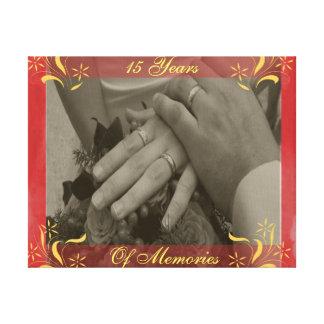 Het Jubileum van het huwelijk Canvas Afdrukken