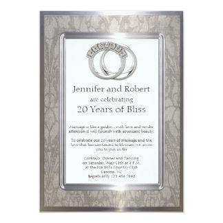 Het Jubileum van het Huwelijk van de Ringen 12,7x17,8 Uitnodiging Kaart