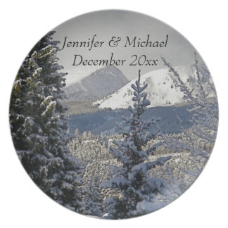 Het Jubileum van het Huwelijk van de winter Party Bord