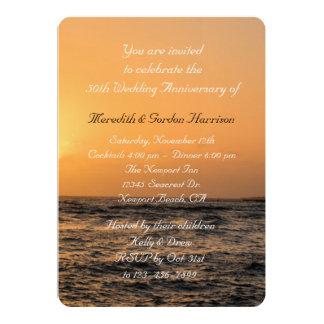 Het Jubileum van het Huwelijk van de Zonsondergang 12,7x17,8 Uitnodiging Kaart