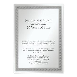 Het Jubileum van het Huwelijk van het Blad 12,7x17,8 Uitnodiging Kaart