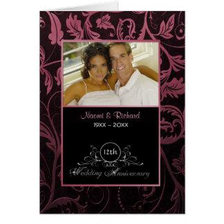 Het Jubileum van het Huwelijk van het Damast Briefkaarten 0