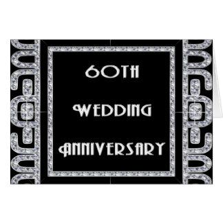 Het Jubileum van het Huwelijk van het diamanten Briefkaarten 0