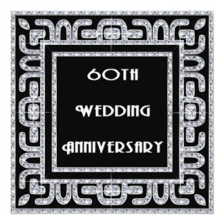 Het Jubileum van het Huwelijk van het diamanten Kaart