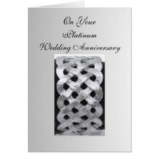 Het Jubileum van het Huwelijk van het platina Wenskaart